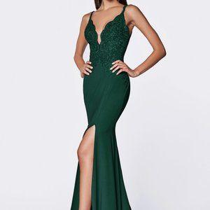 V-Neck Mermaid Shape Evening Dress CDCF319